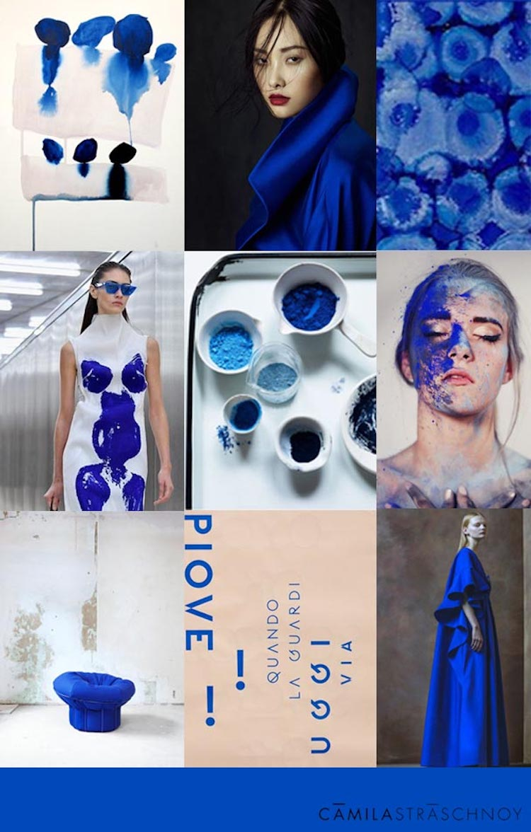 Color Trend Board Klein Blue Camila Straschnoy