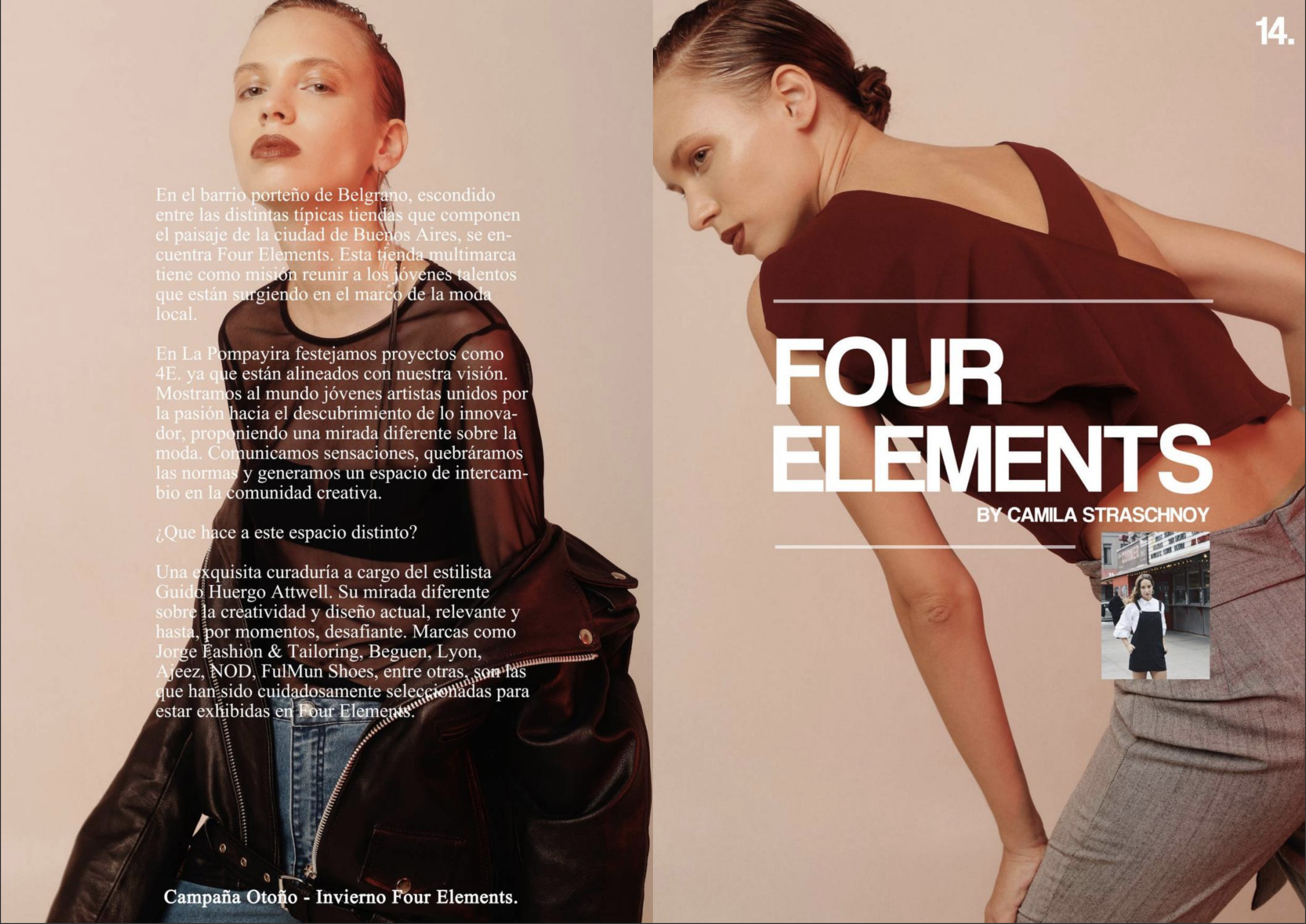 La Pompayira Issue 38 Four Elements by Camila Straschnoy