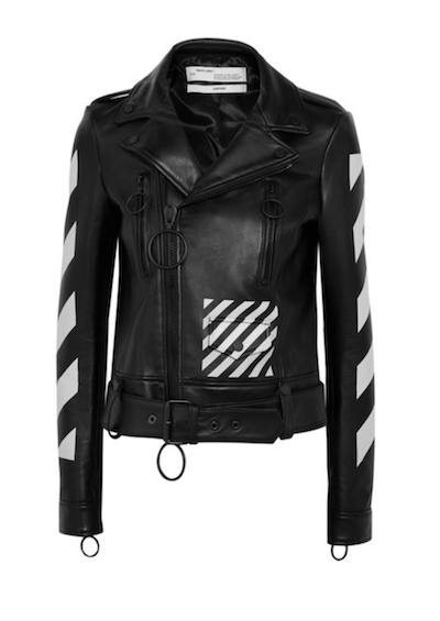 Off-WHITE Printed Leather Biker