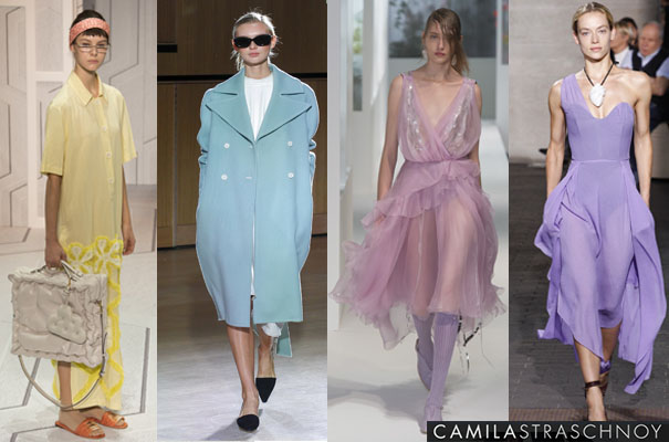 LONDON FASHION WEEK S18 Pastels