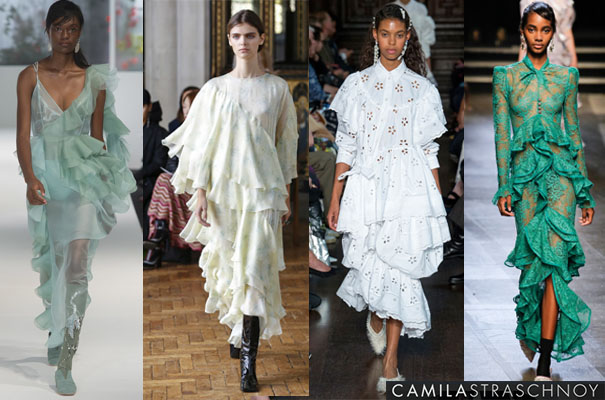LONDON Fashion Week Spring 2018 Ruffles