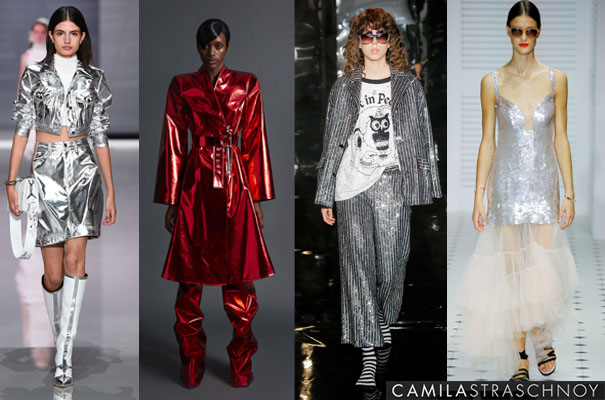 LONDON Fashion Week Spring 2018 metallic